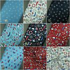 100% Cotton Fabric Nautical Boat Anchor light house Superior Quality