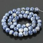 "Gemstone Round Loose GEM Bead 15""L 6 8 10 12mm Sodalite Fit Stone Bracelet 15"""