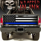 Blue Stripe Subdued Flags Police - Tailgate Wrap Graphic ...