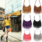 Korean Fashion Tassel Suede Fringe Shoulder Messenger Handbag Cross Body Bag
