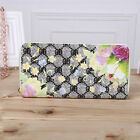 Fashion Women Floral Print Wallet Card Purse PU Leather Luxury Wallets Handbag