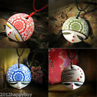 Women Lady Charm Chinese Ceramic National Wind Pendant Necklace Unique Jewelry