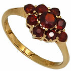 Damen Ring 375 Gold Gelbgold 9 Granate rot Goldring