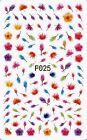 mixed designs nail art decorations sticker beauty flower decals manicure tools F