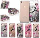 Stars Dynamic Liquid Water Bling Glitter Girl with umbrella Case For iPhone 6 7