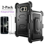 For Samsung Galaxy S7 / S7 Edge Case with Screen Protector and Belt Clip