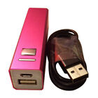 Power Bank 2600 mAh External Battery Portable Charge iPhone Samsung HTC New