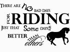 Wall Art Sticker Horse Riding Quote Vinyl wall art decal