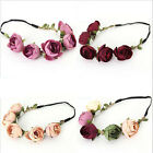 5Pcs / Lot Women Party Wedding Big Flower Wreath Crown Headband Floral Garlands