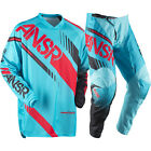 NEW ANSWER RACING A17 SYNCRON CYAN RED ADULT RACE GEAR COMBO JERSEY PANTS MX