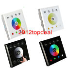 Wall Mounted Acrylic Touch Panel LED Controller Dimmer Switch for RGB/RGBW singl