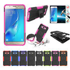 Rubber Hybrid Bumper Shockproof Stand Back Cover Case For Samsung Galaxy J5 2016