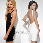 Womens Ladies Sleeveless Sexy V-Neck Bodycon Cocktail Party Evening Slim Dress