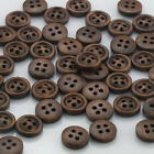 Coffee Round Wood Buttons 4 Holes Wood Sewing Buttons Scrapbooking
