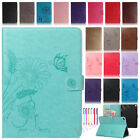 """Smart Patterned Leather Wallet Case Stand Cover For iPad 2 3 4/Mini/Air/Pro 9.7"""""""
