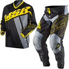 NEW MSR RACING AXXIS BLACK YELLOW GREY ADULT RACE GEAR COMBO JERSEY PANTS MX