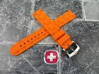 Wenger Swiss Army Genuine Rubber Strap Orange Diver Watch Band 20mm 19mm x1 Re