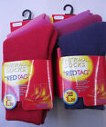 GIRLS PURPLE OR RED 1.20 TOG WARM WINTER THERMAL 3 PACK SOCKS - RED TAG