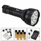 Ultrabright 30000Lm 12x XM-T6 LED Flashlight Torch Hunting Work Lamp 6x18650+CH