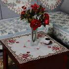 Square Flowers Embroidery Tablecloth Table Decor Topper Cover 5 Availble Sizes