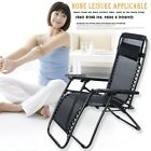 2PCS 3 Folding Reclining Beach Outdoor Leisure Deck Chair Daybed Chair