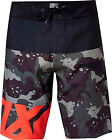 FOX RACING ADULT SHIV FL ORANGE CAMO BOARDSHORTS SWIM SURF BEACH BOARD SHORTS