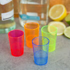 Fineline Settings Quenchers 1.5 Oz Multi-Color Neon Hard Plastic Shooter Glasses