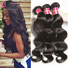 UNice 8A Peruvian Body Wave Human Hair 3 Bundles Wet Wavy Human Hair Extensions