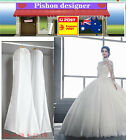 1.8m Wedding Dress Dust Cover Garment Bag 180x68cm Storage Visible