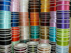 Full Reel Double Sided SHINDO SATIN Quality Tying Ribbon Crafts 3mm x 50 Metres