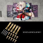 5pcs Harley Quinn Livingroom Home Wall Decor Landscape Oil Canvas Paintings