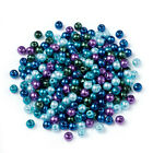 Pearlized Glass Pearl Beads Mixed Color Ocean Mix ( 4/6/8mm in diameter )