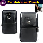 universal Genuine Leather Belt Clip Pouch Case Cover for 5.5 inch phone bag