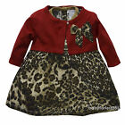 New Infant Newborn baby girls Dress w Cardigan clothing outfit size 3 6 9 months