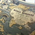Vintage World Map Great Building Retro Maps фото