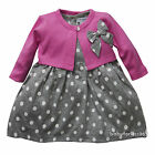 New Infant Newborn baby girls dress cardigan clothing outfit size 3 6 9 months