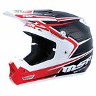 NEW MSR RACING MAV-3 SF BLACK RED MX MOTOCROSS RACING RACE HELMET MENS ADULT