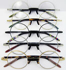 Medium Size Round Vintage Eyeglass Frame Spectacle OLD SCHOOL Antique Collection