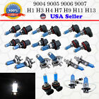 1 Pair Xenon Headlight Halogen Lamp 2x Light Bulb Replacement Super White 6000k