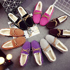 Fashion Women's Shoes Casual Shoes Slip-On Suede Leather Shoes Driver's Shoes