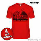Wales V Ireland Red Rugby Sport T-shirt Dragon Elk Nations Tshirt Tee Top