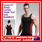 QUALITY BASE LAYER COMPRESSION TANK TOP with BAMBOO CHARCOAL / SPORT SINGLET