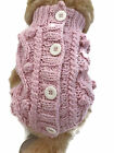 Small dog warm Pink sweater. pet clothes winter apparel, puppy handmade knitwear