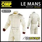 IA01823F OMP LE MANS VINTAGE CREAM NOMEX RACE SUIT FIA 8856-2000 APPROVED
