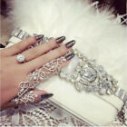 Armor Rock Double Ring Full Finger Gothic Knuckle