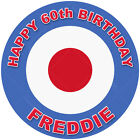 Mod Mods 60's Roundel Icon edible icing cake topper with personalisation option