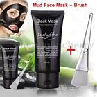 Blackhead Remover Nose Face Mask Black Head Pore Acne Cleansing Mud + Brush Hot