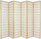 6 PANEL SHOJI FOLDING SCREEN ROOM DIVIDER PARTITION FOR PRIVACY OR DECOR