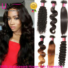 8A Peruvian Body Wave Human Hair 1/3Bundles UNice Curly Straight Hair Extensions