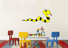 Nursery Wall Stickers Black And Yellow  Snake Vinyl Decal Full Colour 05741